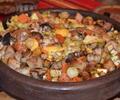 Сач със свинско и зеленчуци