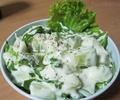 Зелена салата с кисело мляко